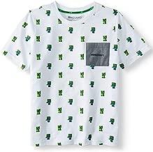 Minecraft Shirt Zombie Creeper Mob Swarm T-Shirt (Small (6-7)) White