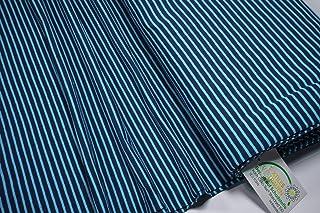 Mollipolli Jersey Little Darling - Tela (0,5 m), diseño a Rayas, Color Azul