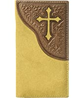 Embossed Tab with Cross Rodeo Wallet