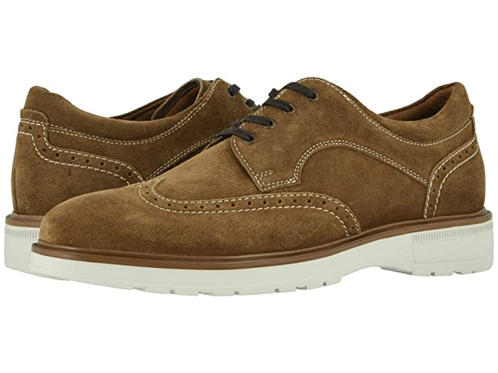 Florsheim  Astor Wing Tip Oxford (Mushroom Suede/Cream Sole) Mens Shoes