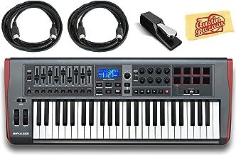 Novation Impulse 25 Keyboard Bundle with Sustain Pedal, MIDI Cables, and Austin Bazaar Polishing Cloth