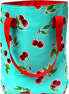 IKURI Shopper Tote bag for Women Design Vichy Shoulder Handbag Commuter Handcrafted Body Bag Crossbody Handmade Casual Satchel Mesh