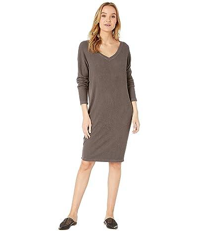 Hard Tail Long Sleeve V-Neck Dress (Owl) Women
