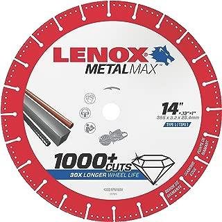 Lenox Tools 1972932 METALMAX Diamond Edge Cutoff Wheel, 14