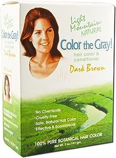 Light Mountain Natural: Color the Gray Conditioner, Dark Brown 7 oz