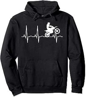 Dirt Bike Hoodie - Dirtbike Heartbeat Hooded Sweatshirt