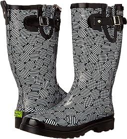 Stripe Dot Rain Boot