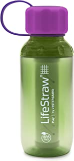 LifeStraw Play Kids Water Filter Bottle with 2-Stage Integrated Filter Straw for Safe and Clean Drinking Water, 10-Ounce, ...