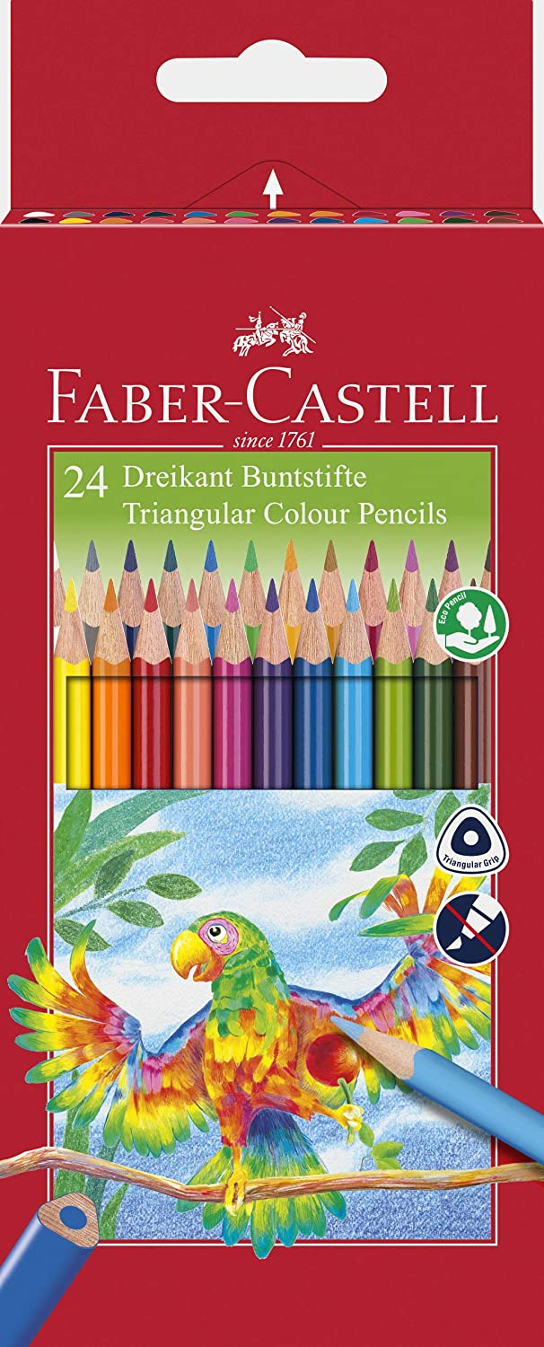 faber castell triangular colour pencils pack of 24