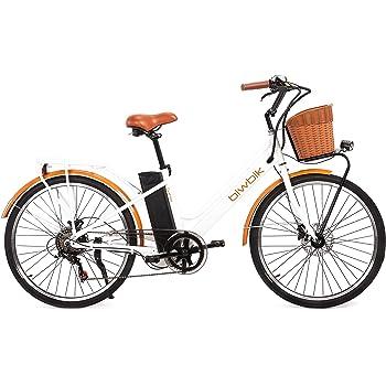 BIWBIK Bicicleta ELECTRICA Mod. GANTE BATERIA Ion Litio 36V12AH (Blanco): Amazon.es: Deportes y aire libre