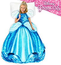Blankie Tails   Disney Princess Dress Wearable Blanket - Double Sided Super Soft and Cozy Princess Minky Fleece Blanket - Machine Washable Fun Disney Blanket for Kids (Cinderella)