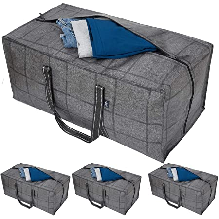 VENO 4 Pack Extra Large Clothes Storage Bag Organizer with Reinforced Handle Thi