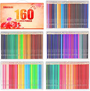Soucolor 160 Colored Pencils Set Artist Drawing Coloring Pencils for Coloring Books Art Projects