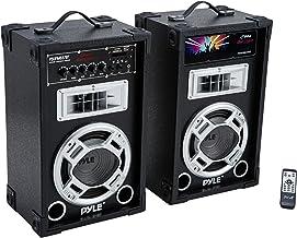 Pyle Dual 800 Watt Powered PA Bluetooth Speaker System Disco Jam Two-Way DJ Speakers |..