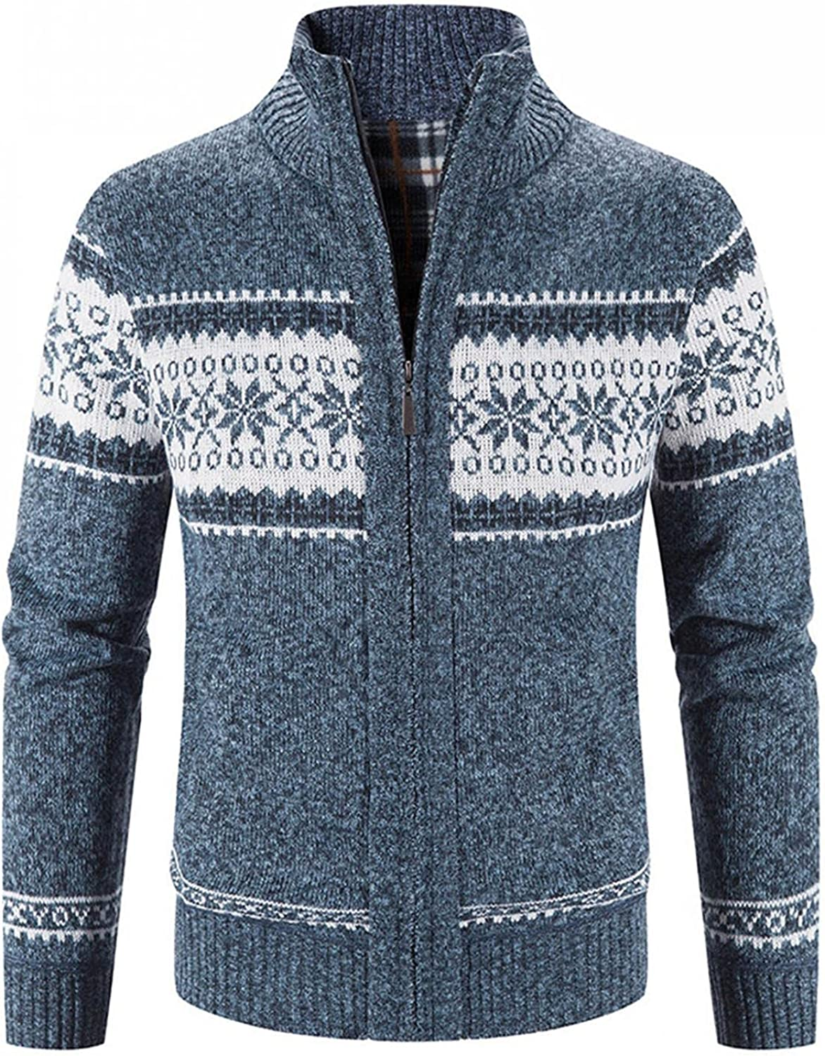 Men Jackets San Diego Mall Block Printed Stand Collar At the price C Autumn Sleeve Warm Long
