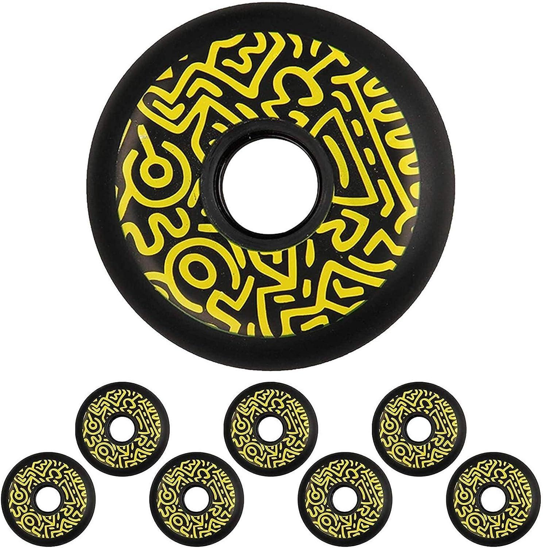 Purchase ZJFF Graffiti Inline Skate Wheels Skating Street 90A PU National uniform free shipping 7
