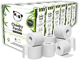 The Cheeky Panda Limited Ekologiczny papier toaletowy bambusowy - 6 opakowań po 4 rolki - (łącznie 24 rolek)