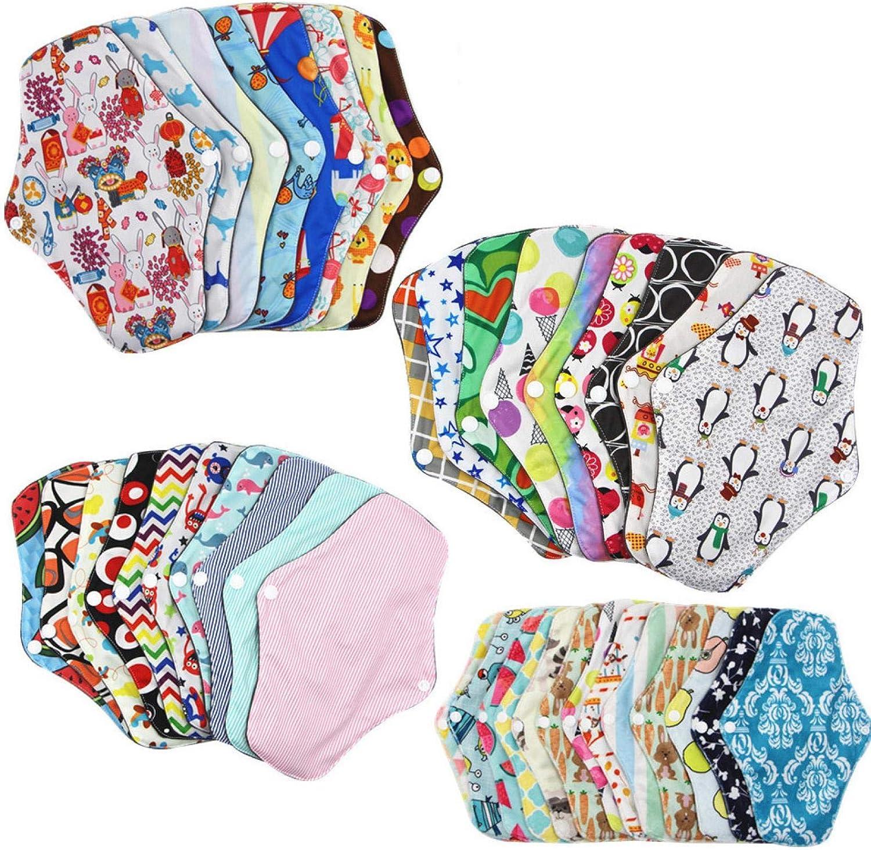 Reusable Menstrual Pads Washable Sanitary Pa Cloth Max El Paso Mall 64% OFF