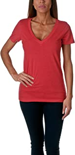 Next Level Baby Rib Knit Short Sleeve Deep V-Neck T-Shirt
