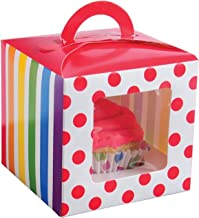 Lot Of 12 Rainbow Design Cupcake Carrier Boxes