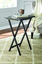 PJ Wood Folding TV Tray & Snack Table - Black