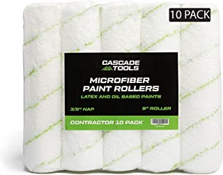 Microfiber Paint Roller Covers 9 Inch (10 Pack - Professional Grade) 3/8