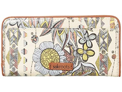 Sakroots Artist Circle Slim Wallet (Sunshine Spirit Desert 1) Wallet Handbags
