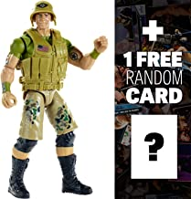 WWE John Cena w/ Mini-Tatto Sheet: Create a Superstar Action Figure + 1 Free Official Trading Card Bundle