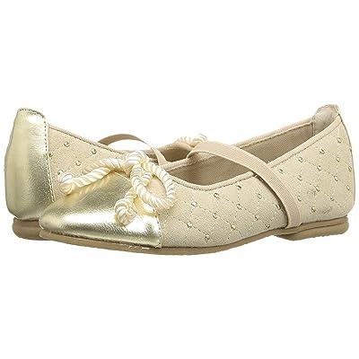 Jumping Jacks Kids Balleto Katrina (Toddler/Little Kid/Big Kid) (Gold Suede/Krinkle) Girls Shoes
