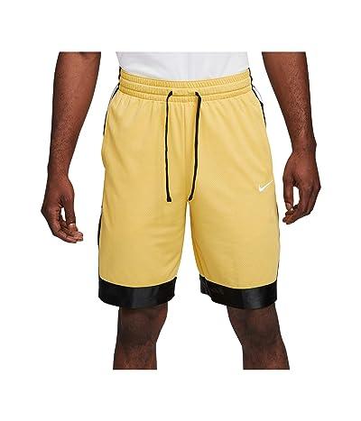 Nike Dry Elite Shorts Stripe (Saturn Gold/Black/White) Men