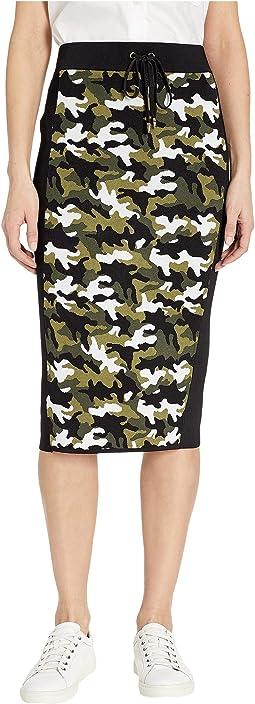 Camo Tie Waist Skirt