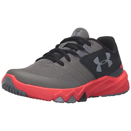 Under Armour Boys Micro G Rave RN PS Junior Running Shoes Trainers Sneakers Grey