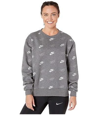 Nike NSW Crew BB BFF Shine (Charcoal Heather/Dark Steel Grey) Women