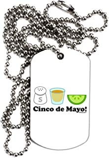 Cinco de Mayo Design - Salt Tequila Lime Adult Dog Tag Chain Necklace