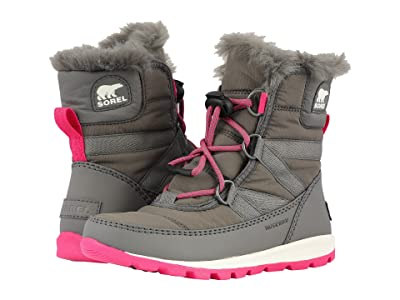 SOREL Kids Whitneytm Short Lace (Little Kid/Big Kid) (Quarry/Ultra Pink) Girls Shoes