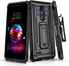 Phone Case for [LG Premier PRO LTE (L413DL,L414DL)], [Rivet Series][Black] Shockproof Cover & [Belt Clip Holster] for LG Premier Pro LTE (Tracfone, Simple Mobile, Straight Talk, Total Wireless)