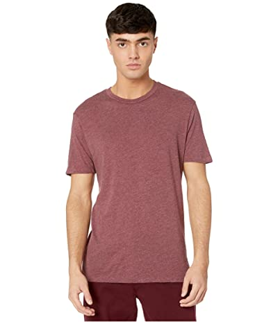 RVCA Solo Label Short Sleeve T-Shirt (Oxblood Red) Men