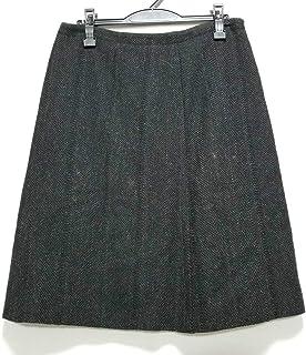 (ミュウミュウ)MIUMIU スカート レディース 黒×ダークグレー 【中古】