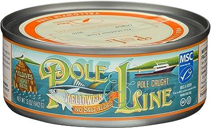 Pole And Line, Tuna Yellowfin Water No Salt, 5 Ounce
