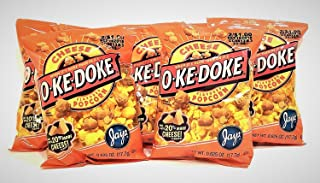 JAY'S O'KE DOKE Cheese Flavored Popcorn A Chicago Original 10 Pack .625 oz bags