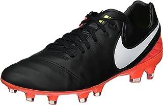 Men's Tiempo Legacy II Leather FG Soccer Cleat (Sz. 9) Black, Hyper Orange