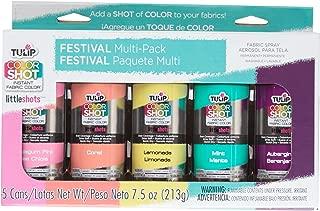 Tulip 35029 ColorShot Instant Fabric Color Festival 5 Pack