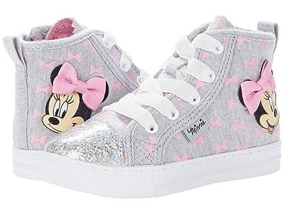 Josmo Kids Minnie Lighted High-Top Sneaker (Toddler/Little Kid) (Grey/Pink) Girl