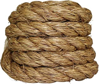 SGT KNOTS Manila Rope   Size 1/4-3 inch   Length 10-1200 ft   Tan Rope/Brown Rope - Twisted Manila 3 Strand Natural Fiber Cord   Ropes for Indoor and Outdoor Use   3/4 inch x 10 feet