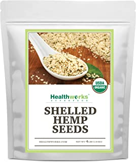 Healthworks Shelled Hemp Seeds Organic (64 Ounces / 4 Pound) (2 x 2 Pound Bags) | Premium & All-Natural | Canadian or Euro...