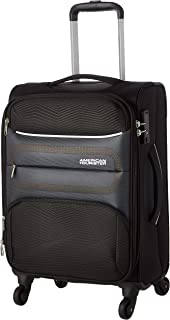 American Tourister Chelsea Soft Cabin Luggage travel trolley bag, Black, 55cm Spinner