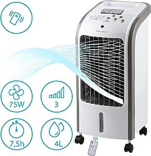 MovilCom® - Climatizador de Verano | Climatizador evaporativo 3 en 1 | Enfriador | Humidificador | Ventilador con Aire enfriado y purificado | con Mando | 4L de Capacidad | Mod.02