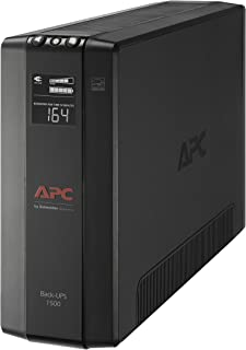 APC UPS Battery Backup & Surge Protector with AVR, 1500VA, APC Back-UPS Pro (BX1500M) (Renewed)