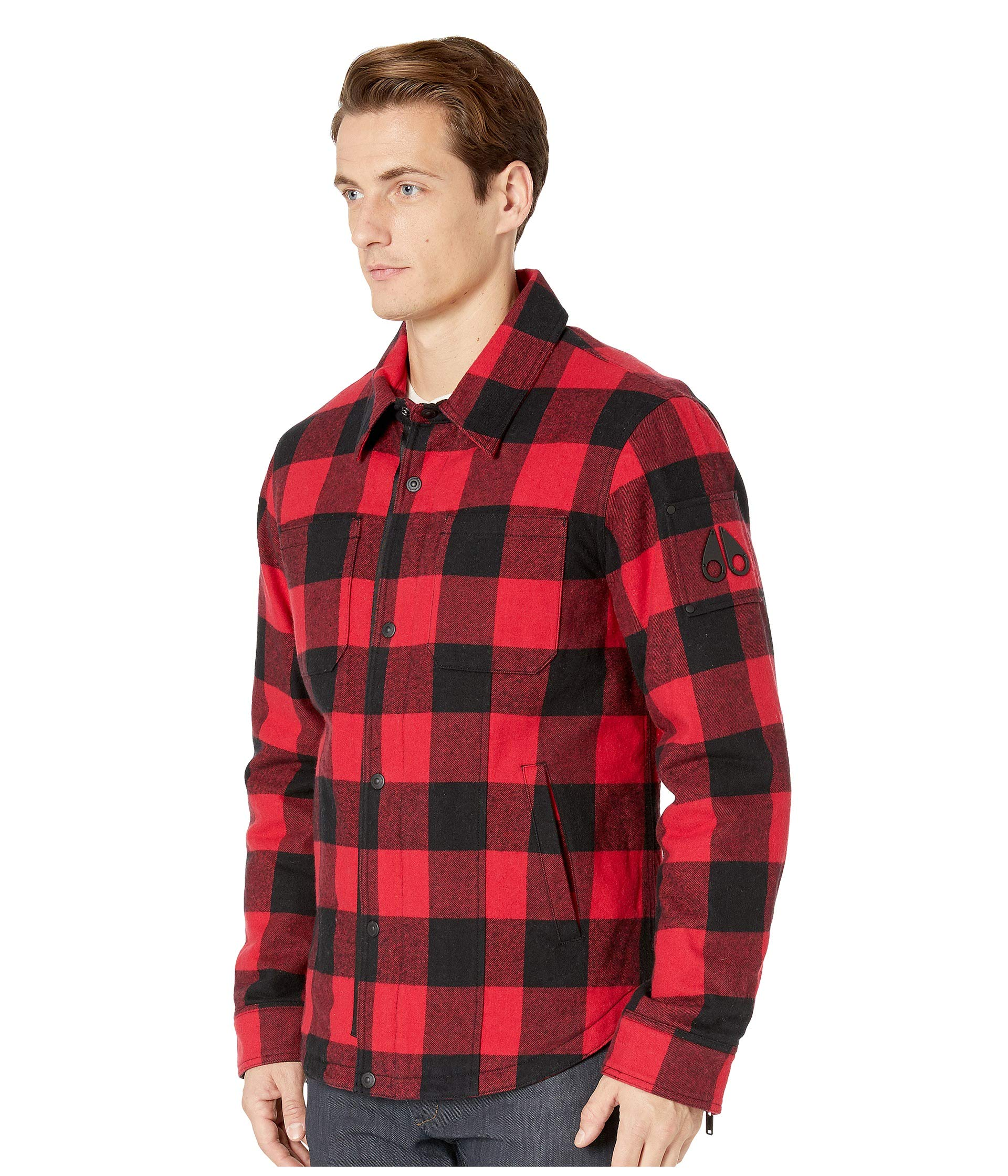 9e90e773d69 Moose Knuckles Ross Flannel Shirt Jacket at Luxury.Zappos.com