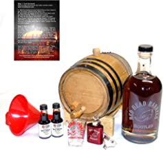 2 Liter charred American Oak whiskey Barrel Flavoring Gift Set w/Kentucky Bourbon Essence for making your own whiskey flavored alcohol